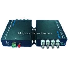 Transmisión de fibra de video competitiva 8 CH 1080P Ahd & Cvi & Tvi resolución