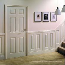 Núcleo contínuo do estilo moderno contemporâneo Núcleo contínuo Porta interior nivelada de madeira branca
