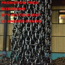 Manufacturing Promotion Anchor Chain auf Lager, U3 105mm Marine Link Anchor Chain