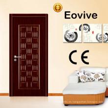 Precio de puerta de exterior madera de melamina de fabricación China