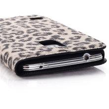 Cas de stand de couverture de portefeuille de cuir PU de luxe pour Samsung Galaxy S5 I9600