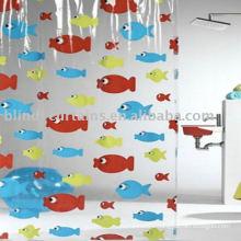 latest design of Transparent fish shower curtain
