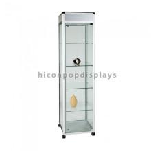 Loja de joalharia móvel com acessórios para lojas High End Eco tela de jóias à prova de balas de vidro