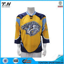 Healong equipo totalmente teñido Sublimated Jersey de hockey