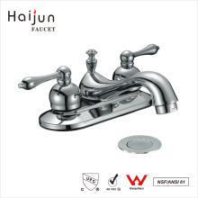 Haijun 2017 Venta caliente cUpc 3 agujero doble manija baño lavabo mezclador grifo