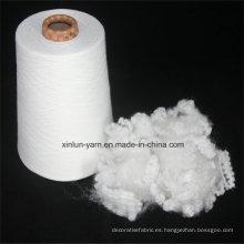 Hilado de algodón 100% poliéster Hilo mezclado T / C