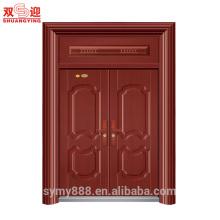 Terminer l'entrée principale conception de porte de sécurité en acier pas cher extérieur