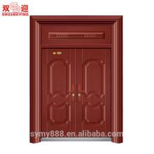 Terminar a entrada principal exterior design de porta de segurança de aço barato