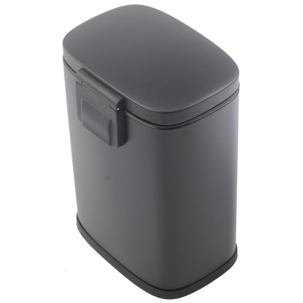 Stainless Steel Pedal Bin Black