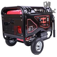 Gerador elétrico da gasolina do gerador silencioso da gasolina 4.5kVA com rodas e punhos