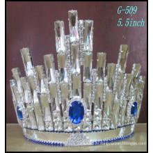 Forme de la fleur de cristal grandes couronnes de concours, couronnes personnalisées grand strass