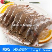 HL002 camarão exportadores marisco congelado crua vannamei camarão branco