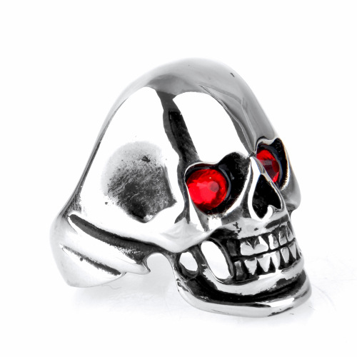 Titanium Steel Finger Skull Ring
