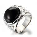 925 серебряное черное каменное кольцо для мужчин