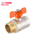 High quality 90 degree brass ball valve with butterfly handle and mini ball valve for water