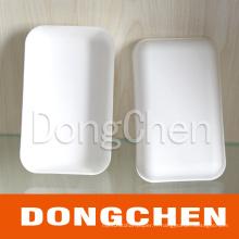 Rectangle jetable et biodégradable Snack Paper Tray