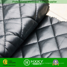 Tecido Acolchoado de Ripstop Cor Preta para Vestuário de Inverno