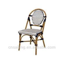 De lujo fácil de limpiar la silla en forma de abanico de mimbre