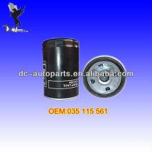 Filtro de óleo 035 115 561 para todos os carros
