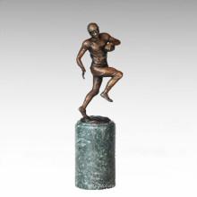 Sport Figur Statue Rugby Spieler Bronze Skulptur TPE-712