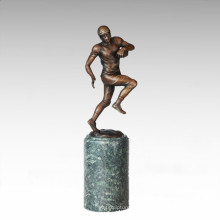 Sport Figure Statue Rugby Player Bronze Sculpture TPE-712