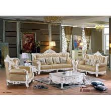 Sofá de cuero de alta calidad estilo real (B16)