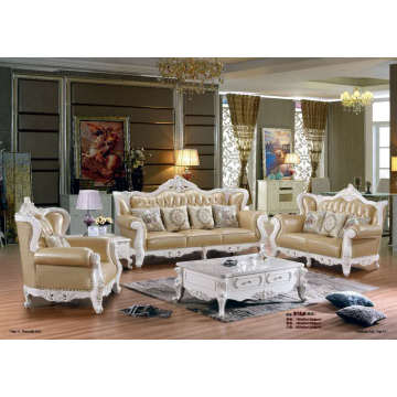 Sofá de couro estilo real de alta qualidade (B16)