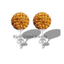 2014 nouvelle déclaration bijoux boucles d'oreilles boule de cristal