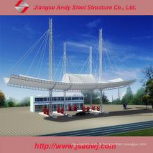 Conception de la station-service de l'espace à l'acier léger galvanisé à grande portée