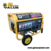 Air cooled 2.5kw 2500 watt gasoline engine generator