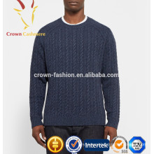 Winter Thick Cashmere Cable Knit Sweater Men