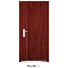 Porta de madeira de aço de alta qualidade (WX-SW-101)