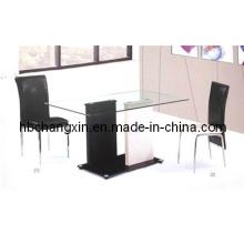 Venda quente nova Design moderno vidro mesa de jantar (CX-DT-33)