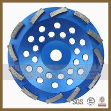 180mm Diamant-Doppelschleiftopf-Rad