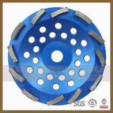 Диаманта 180mm двойной Меля колесо чашки