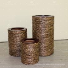 Klassische natürliche Wasser Hyazinthen Vase Wicker Möbel - Set von 3