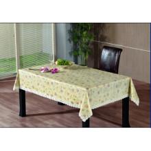 Toalha de mesa de gravação em PVC com apoio de flanela (TJG0008)