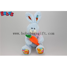 "7.9"" Blue Stuffed Bunny Rabbit Toy Hold Carrot as Kids Gift Is Good Easter Ideas Bos1159"