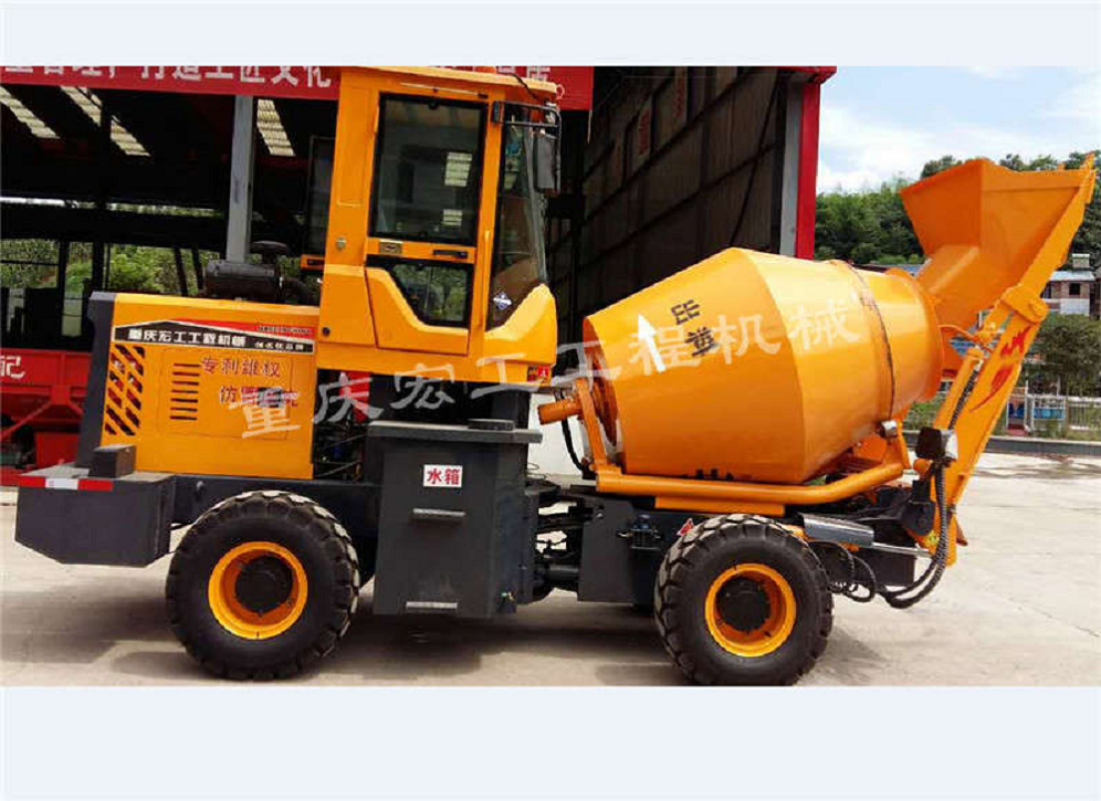 Wheeled multi-function hydraulic mixer