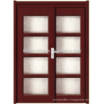 Двери ПВХ слайдов с стекло/дерево Door/MDF(JKD-M698)