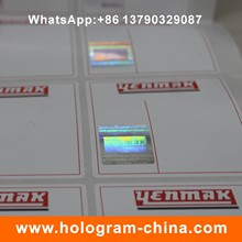 Anti-Counterfeiting Sicherheit Hot Stamped Hologramm Sticker