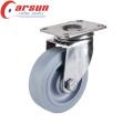 75мм средний долг вращая Рицинус с колесом tpr (нержавеющая сталь)