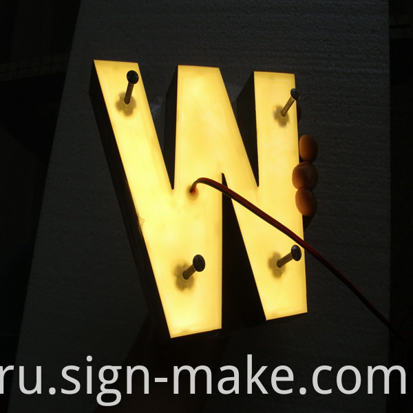 backlit resin letter