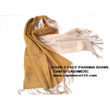 Pashmina de lana de doble cara