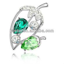 Atacado yiwu platina jóias rhinestone broche moda