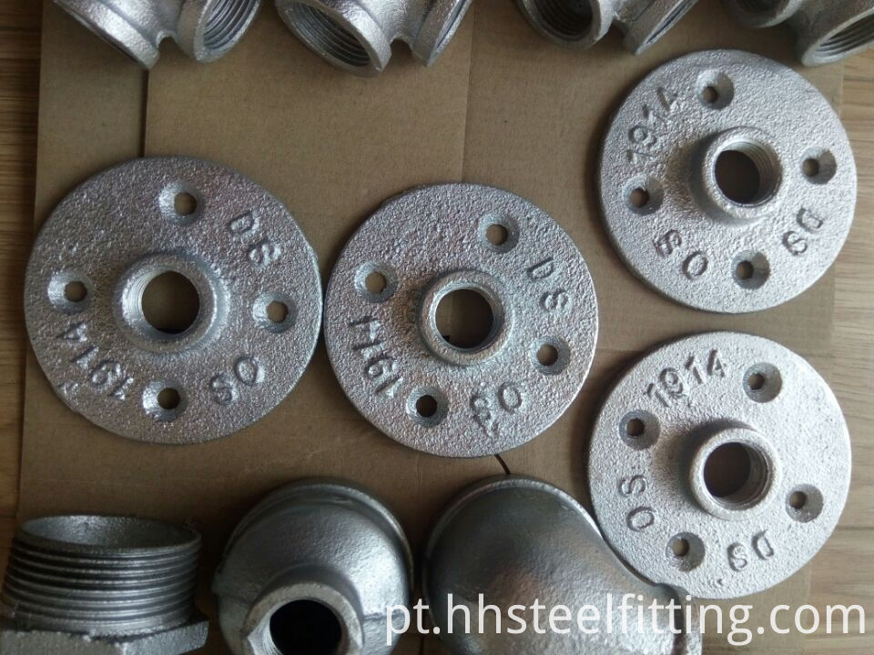 galvanized pipe floor flange