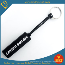 High Quality Design Logo Die Casting PVC Key Ring at Factory Price From China