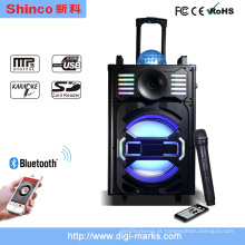 Nova Chegada DJ Áudio Portátil Alto-falantes com Bluetooth, Luz, Mic