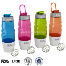 BPA Free Protein Plastic Shaker bottle 16oz 600ml