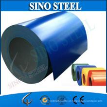 Bobina de aço galvanizada Prepainted revestida cor de Dx51d PPGI